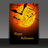 Halloween Flyer or Cover Design Royalty Free Stock Photos