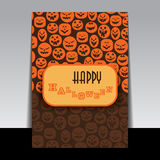 Halloween Flyer or Cover Design Stock Photo