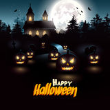 Halloween flyer Royalty Free Stock Photos