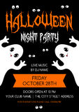 Halloween flyer template Royalty Free Stock Images