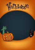 Halloween flyer. Halloween flyer template. Vector illustration Stock Photo