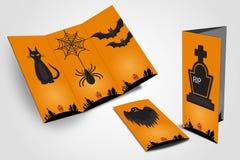 Halloween flyer trifold Stock Photo