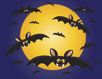Halloween Flying Bats Illustration Royalty Free Stock Photography