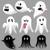 Halloween Flying Ghosts Royalty Free Stock Photography