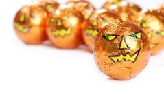 Halloween foil wrapped chocolate Stock Images