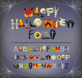 Halloween font Stock Photography