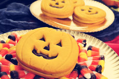 Halloween food, filtered Royalty Free Stock Photo