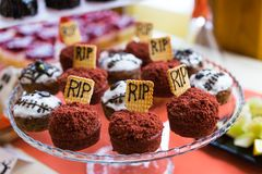 Halloween food stock photography