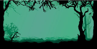 Halloween forest background Royalty Free Stock Photo