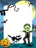 Halloween-Foto-Rahmen-Kindermonster-Vertikale Stockbild