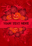 Halloween Frame. With pumpkin, element for design, vector illustration Stock Photos