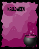 Halloween frame stock illustration