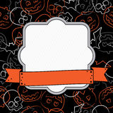 Halloween frame. Halloween decoration with frame and ribbon ready for text Stock Photography