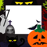 Halloween frame. Design with copy space for your text Royalty Free Stock Images