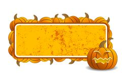 Halloween frame. Abstract halloween frame with pumpkin vector illustration Royalty Free Stock Photo