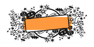 Halloween frame. Vector sketchy frame for Halloween Stock Photo