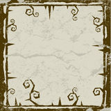 Halloween Frame Background. With grunge texture Stock Image