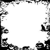 Halloween frame border isolated on white Stock Photo