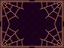 Halloween frame with cobwebs. Holiday background. Vector illustr. Halloween frame with cobwebs. Holiday background. Dotted lines. Vector illustration stock illustration