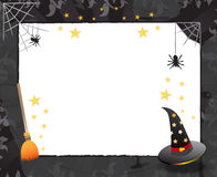 Halloween frame design. With witch/wizard items and white copy space for your text Stock Photo
