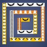 Halloween frame design elements Stock Images