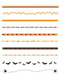 Halloween frame / divider Royalty Free Stock Image