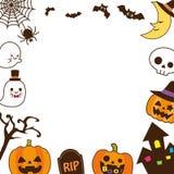 Halloween frame1 stock abbildung