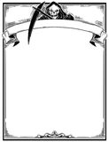 Halloween Frame With Grim Reaper Stock Images