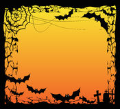 Halloween frame. Illustration of a grunge Halloween frame with bats Stock Images