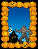 Halloween frame with mummy Royalty Free Stock Photos