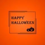 Halloween frame  on orange background Royalty Free Stock Images