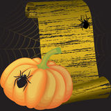 Halloween frame  with pumpkin Stock Photography