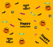 Halloween frame Retro - Illustration. Collection of halloween seamless patterns. - Illustration Stock Photography