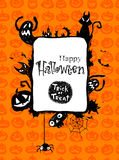 Halloween  frame. Halloween scrapbook elements and frame. Vector illustration Royalty Free Stock Image