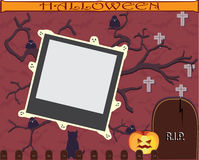 Halloween frame for scrapbooking. Stock Image