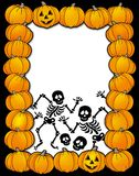 Halloween frame with skeletons Stock Images