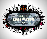 Halloween Frame. Vector illustration of an abstract grunge design for Halloween Stock Images