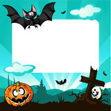 Halloween frame - vector illustration Royalty Free Stock Images