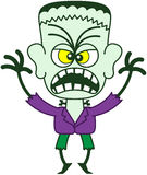 Halloween Frankenstein being scary Royalty Free Stock Photos