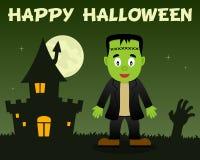 Halloween Frankenstein et Chambre hantée Images libres de droits