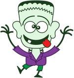 Halloween Frankenstein faisant les visages drôles Photos stock