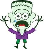 Halloween Frankenstein feeling scared Royalty Free Stock Photo