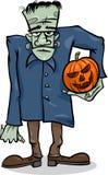 Halloween-frankenstein Karikaturillustration Lizenzfreies Stockbild