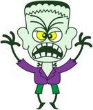 Halloween Frankenstein que es asustadizo Fotos de archivo libres de regalías