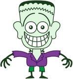 Halloween Frankenstein que hace muecas mientras que siente desconcertado Fotos de archivo