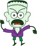 Halloween Frankenstein que siente furioso Fotografía de archivo