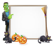 Halloween Frankenstein Sign Royalty Free Stock Photo