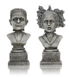 Halloween Frankenstein Statues. Isolated over white background Royalty Free Stock Image