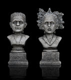 Halloween Frankenstein Statues Royalty Free Stock Photo