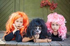 Halloween friends Stock Image